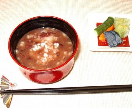 甘菓子(大麦冷やしぜんざい)